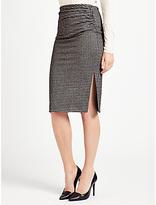 Max Mara Weekend Mogana Jersey Check Skirt, Black