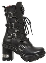 New Rock Womens M Neotyre05-S Gothic Leather Boots EU