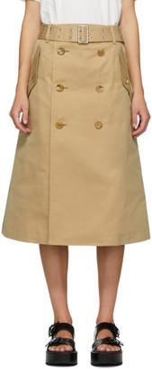 Junya Watanabe Beige Gabardine Skirt