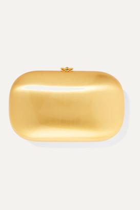 Jeffrey Levinson - Elina Plus Satin And 18-karat Gold-plated Aerospace Aluminum Clutch