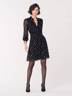 Diane von Furstenberg Leena Crinkle Chiffon Mini Dress