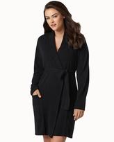 Soma Intimates Short Cashmere Robe Black