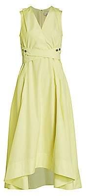 3.1 Phillip Lim Women's Poplin Wrap Midi Dress