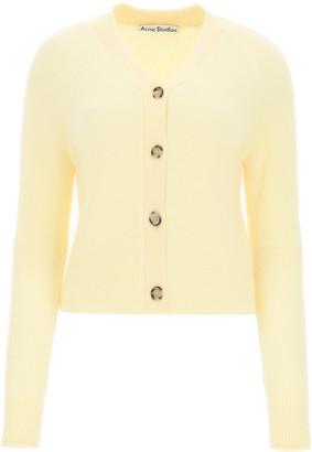 Acne Studios ALPACA BELND CARDIGAN M Yellow Wool