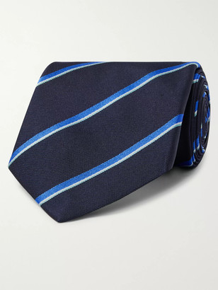 Dunhill 8.5cm Striped Mulberry Silk-Twill Tie
