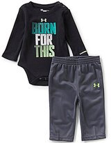 Under Armour Baby Boys Newborn-12 Months Born For This Long-Sleeve Thermal Bodysuit & Tricot Pant Set