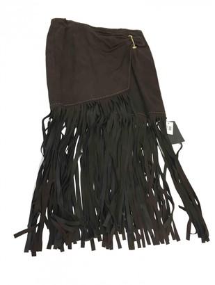Tamara Mellon Brown Suede Skirts