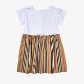 Burberry Rhonda Stripe Dress (Little Kids/Big Kids) (White) Girl's Dress