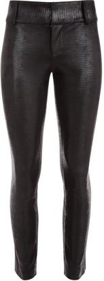 Alice + Olivia Python-Textured Slim Trousers