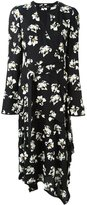 Proenza Schouler flower print wrap dress - women - Silk/Spandex/Elastane/Viscose - 8