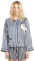 MORGAN LANE Ruthie Owl Moon Stripe PJ Shirt