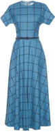 Luisa Beccaria Checkered A-Line Dress