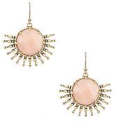 Lucky Brand Jade Sunburst Drop Earrings