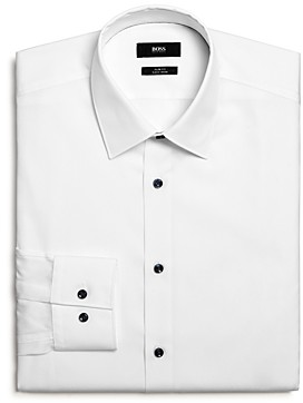 BOSS Jano Solid Slim Fit Dress Shirt