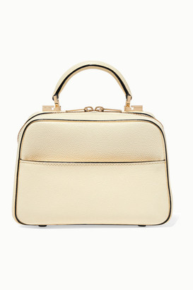Valextra Serie S Small Textured-leather Tote - Ivory