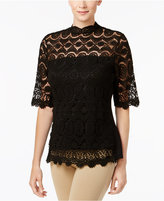 Charter Club Cotton Crochet Top, Created for Macy's
