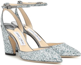Jimmy Choo Micky 85 glitter pumps