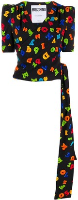 Moschino Letters Print Wrap Top