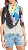 Rebecca Minkoff Women's Painterly Palm Square Scarf
