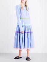 Natasha Zinko Puff-shoulder lace-trim cotton dress