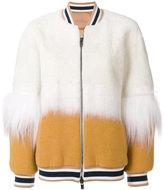 Drome fur trimmed bomber jacket