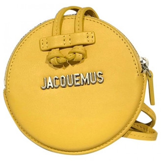 Jacquemus Le Pitchou Yellow Leather Clutch bags