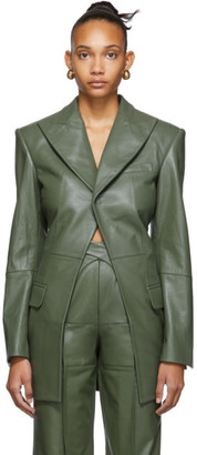 Situationist SSENSE Exclusive Green Leather Blazer