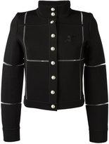 Courreges buttoned jacket - women - Viscose/Polyamide/Spandex/Elastane - 36