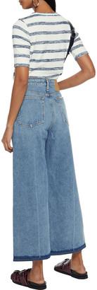 Rag & Bone Ruth Cropped High-rise Wide-leg Jeans