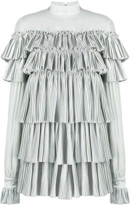Wandering Ruffle Pleated Dress