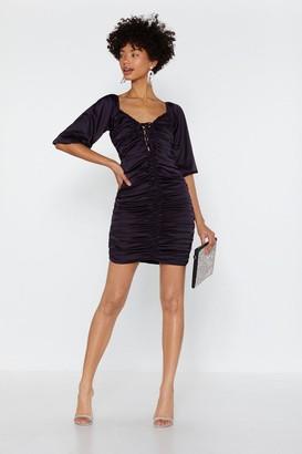 Nasty Gal Womens Feeling Ruched Satin Dress - Purple - 6, Purple
