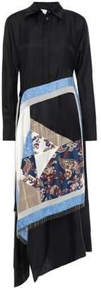 3.1 Phillip Lim Bead-embellished Layered Silk-twill Midi Shirt Dress