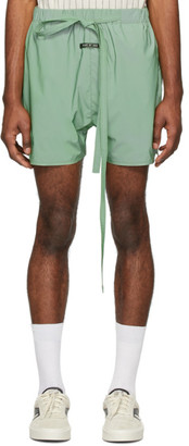 Fear Of God Green Iridescent Military Training Shorts