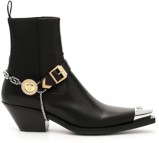 Versace Medusa Chain Western Boots