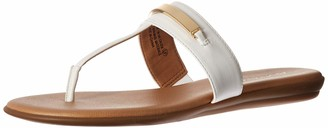 Aerosoles Women's On The Chlock Flip-Flop - Casual Open Toed Sandal with Memory Foam Footbed (9M - White)