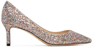 Jimmy Choo Multicolor Course Glitter Romy 60 Heels