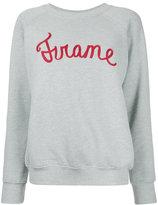 Frame logo print sweatshirt