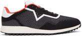 Diesel Black & White S-Swift Knit Sneakers