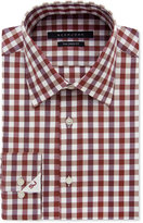 Sean John Men's Classic-Fit Cinnamon Check-Pattern Dress Shirt
