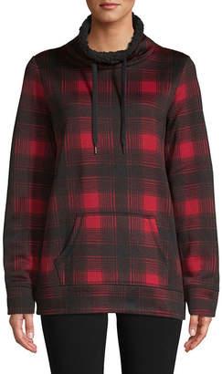 ST. JOHN'S BAY SJB ACTIVE Active Womens Long Sleeve Pullover Fleece Sweater