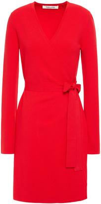 Diane von Furstenberg New Linda Stretch-knit Mini Wrap Dress