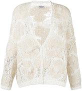 Brunello Cucinelli textured cardigan - women - Polyurethane/Polyamide/Acrylic/Silk - S