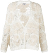 Brunello Cucinelli textured cardigan - women - Silk/Linen/Flax/Acrylic/Virgin Wool - M