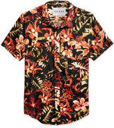 GUESS Men's Jungle Floral-Print Cotton Shirt