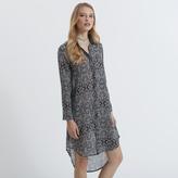 Apricot Paisley Print Shirt Dress