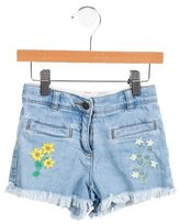 Stella McCartney Girls' Embroidered Denim Shorts
