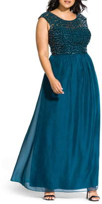 City Chic Sweet Love Maxi Dress (Plus Size)