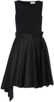 Dice Kayek Sleeveless Pleated Jewel Dress