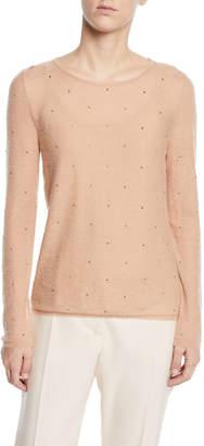 Max Mara Embellished Powdered-Knit Sweater