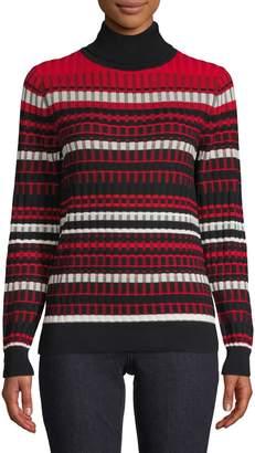 Tommy Hilfiger Textured Turtleneck Cotton-Blend Sweater
